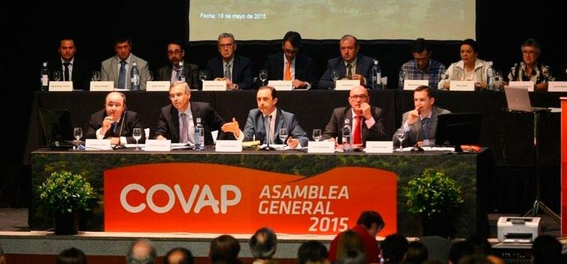 la asamblea covap, aprueba las cuentas de 2014