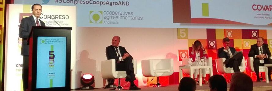 Ricardo Delgado Vizcaíno y Juan Rafael Leal presentes en el 5º Congreso de Cooperativas Agro-Alimentarias de Andalucía.