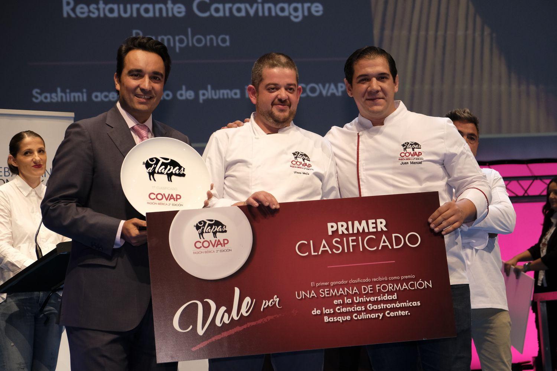 Ulíses Mejías del Restaurante Caravinagre proclamado ganador del concurso D'Tapas COVAP 2017