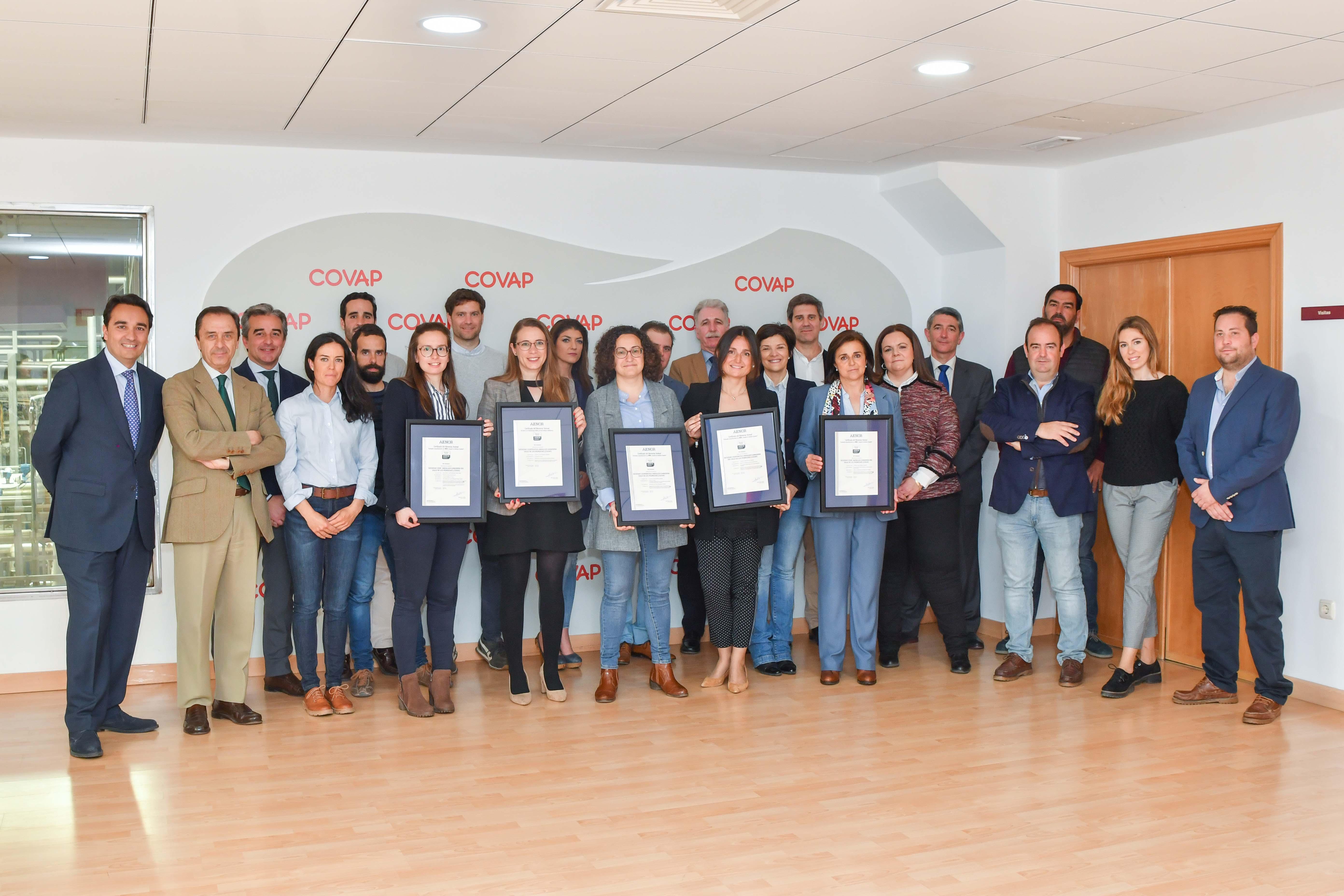 AENOR certifica el Bienestar Animal de las principales producciones ganaderas de COVAP | COVAP
