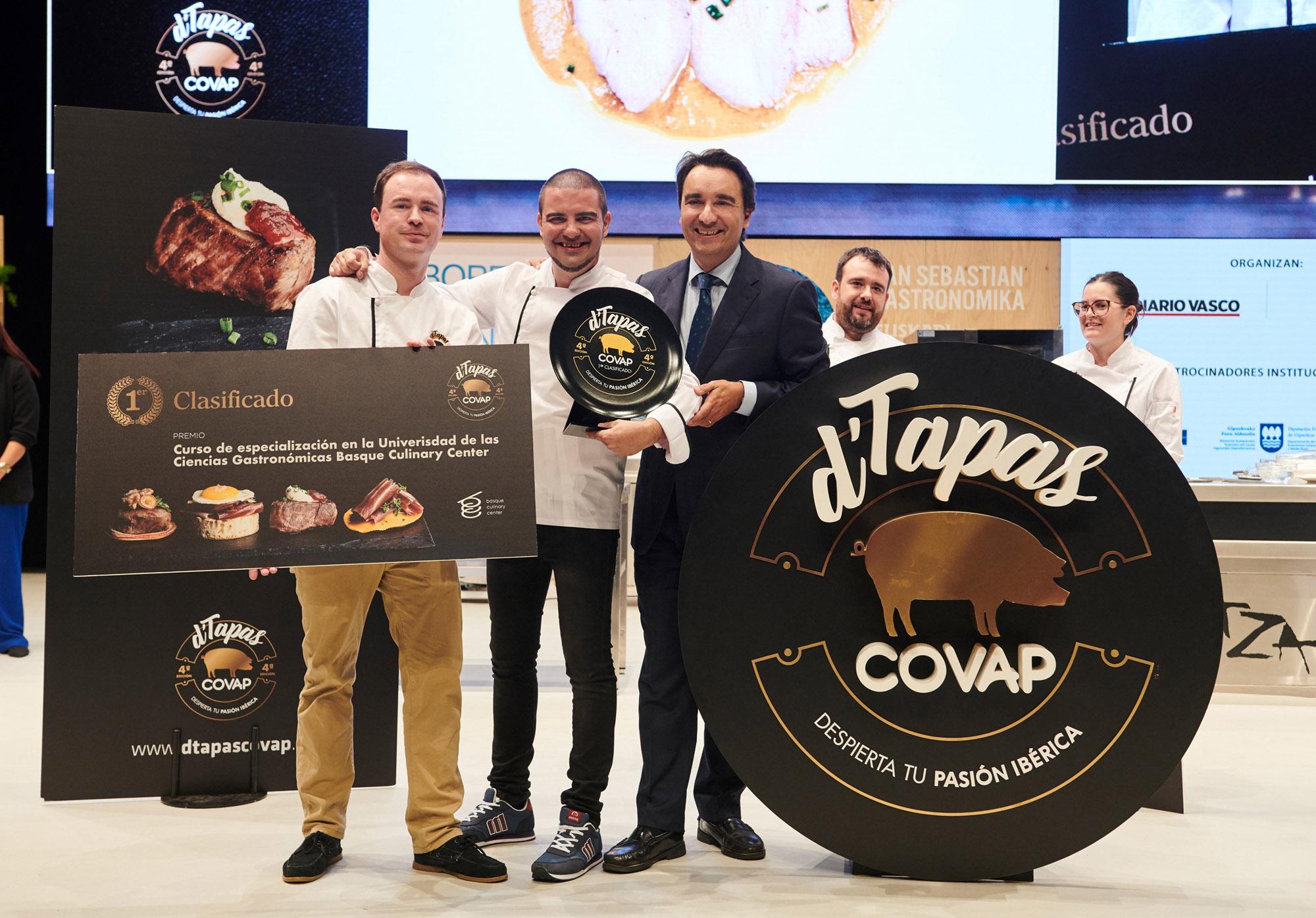Alfredo Dueñas, del restaurante Restobar en Pozoblanco (Córdoba), ha resultado ganador de la IV edición del concurso D'Tapas COVAP | COVAP