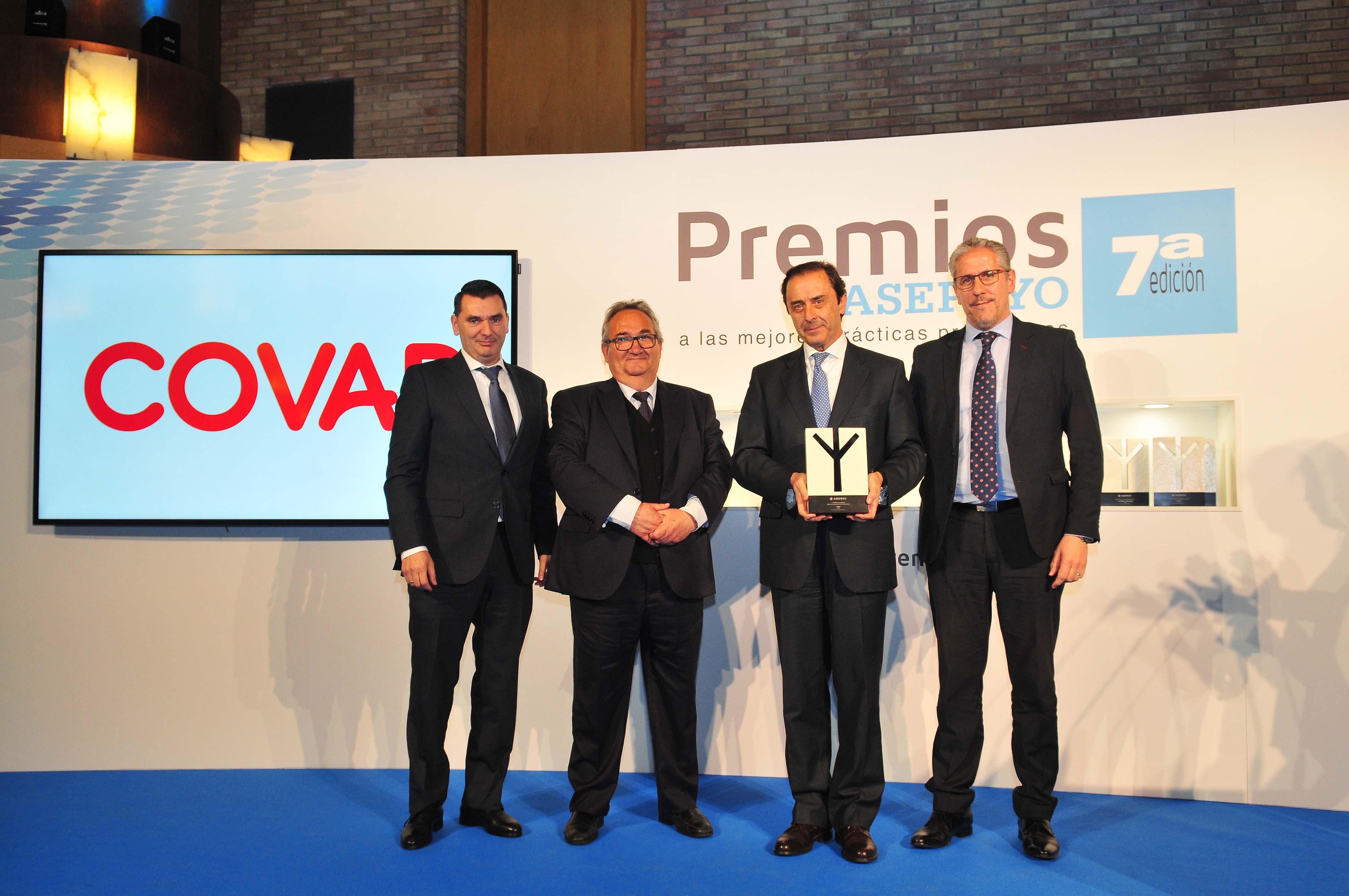 COVAP, galardonada en los  VII Premios Asepeyo a las mejores prácticas preventivas | COVAP
